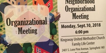 September Brentwood Neighborhood Organization Meeting