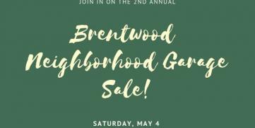 Second Annual Neighborhood Garage Sale!